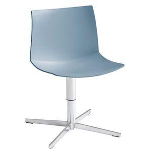 Kanvas 2 L, Verchromter Stuhl mit 4-Klingen-Sockel