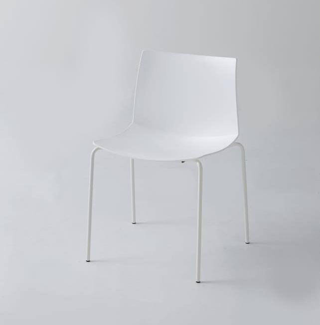 Kanvas 2 NA, Weiß lackierter Stuhl