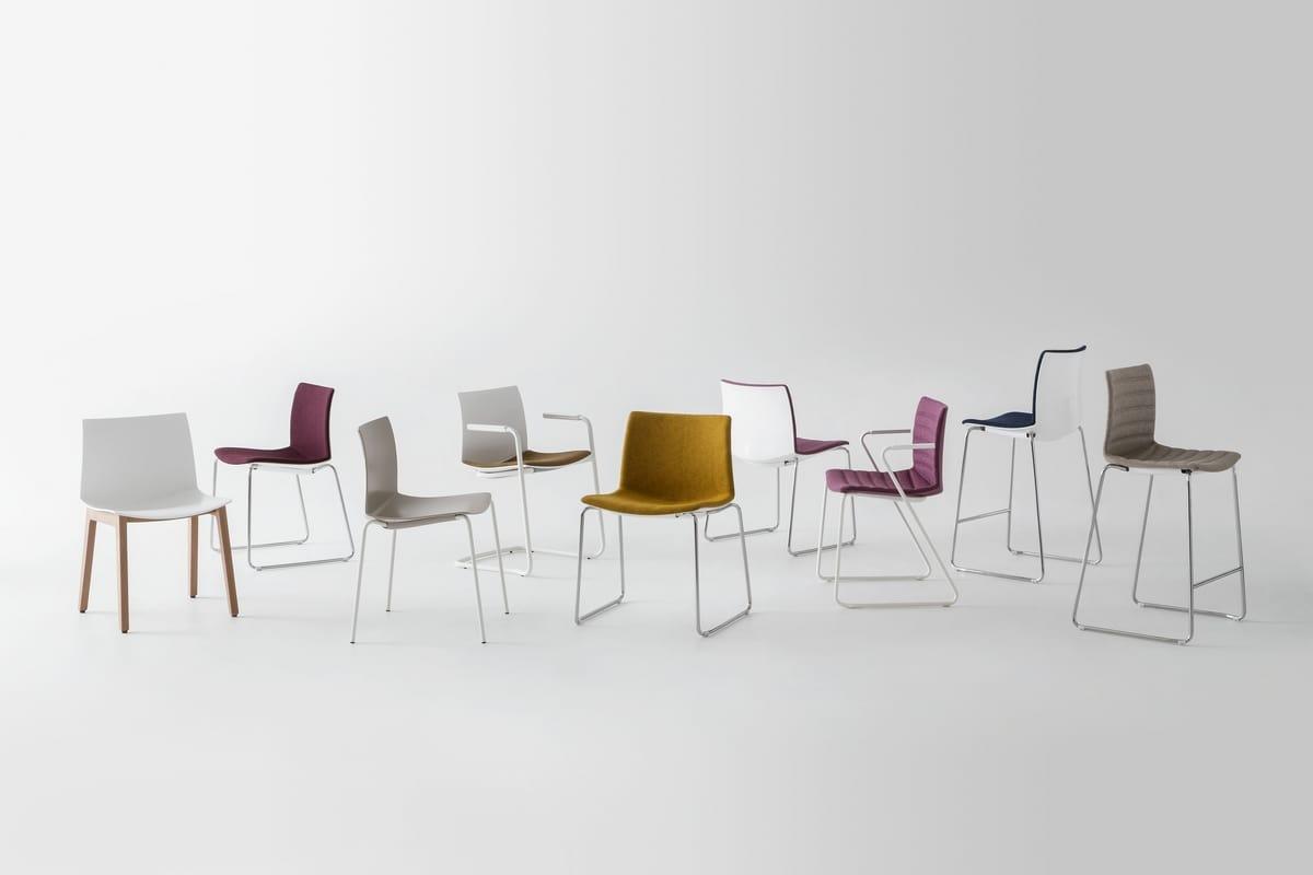 Kanvas 2 ST, Weißer Stuhl mit Kufengestell