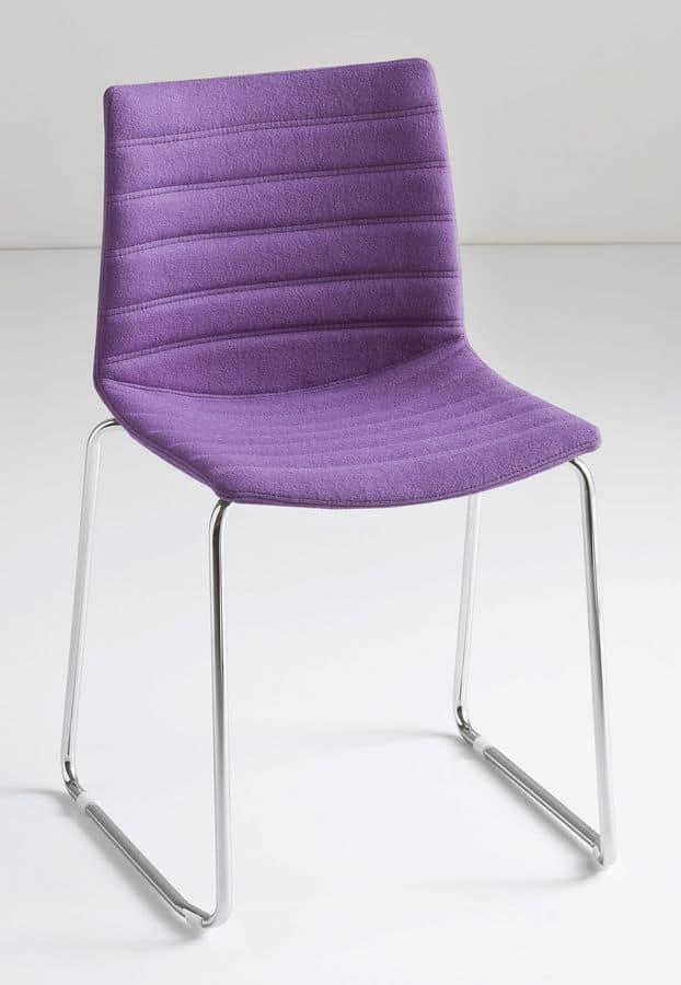 Kanvas ST, Schieben stapelbarer Stuhl, Technopolymer Schale