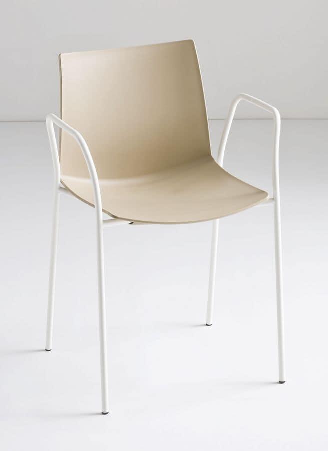 stapelbare barhocker aus metall und polymer f r den au enbereich idfdesign. Black Bedroom Furniture Sets. Home Design Ideas