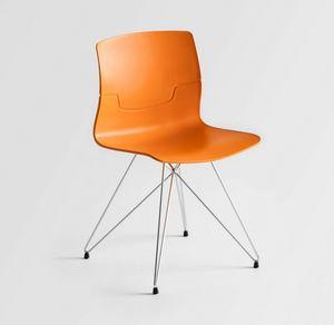 Slot TC, Stuhl mit tmatal Basis, Technopolymer Schale