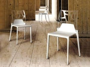 1706, Stuhl aus Kunststoff und Glasfaser, für den Außenbereich