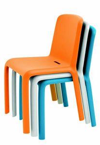 9298 Snow, Stuhl aus farbigem Polypropylen, stapelbar
