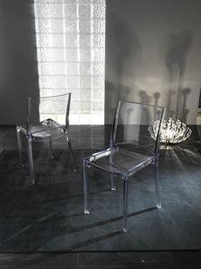 Art. 035 B-cristal, Transparenter Polycarbonatstuhl, stapelbar