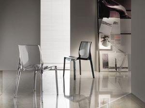 Art. 047 Falena, Kunststoff-Stuhl für die Küche, Stapeln