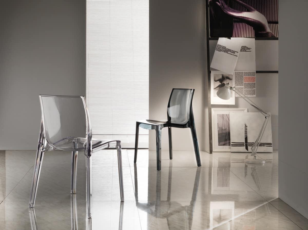 Kunststoff-Stuhl für die Küche, Stapeln | IDFdesign