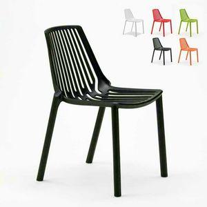 Außen- und Innenstühle für Restaurantbar und stapelbarer Garten aus Polypropylen Design LINE - SL677PP, Stapelbarer Stuhl im Freien
