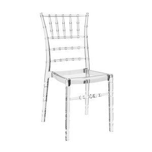 Chiavarina, Stühle aus transparentem Polycarbonat für Catering und Events