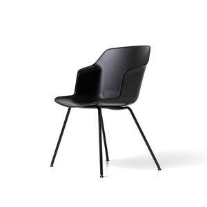 Clop 4 Beine imb, Stuhl auf 4 Beinen mit gepolstertem Sitz