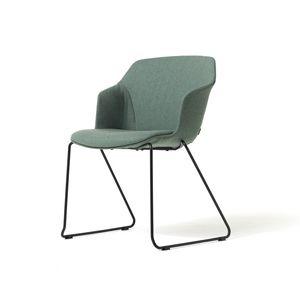 Clop sled imb, Stapelbarer Stuhl mit Kufengestell