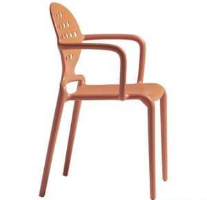 Colette B, Moderne Sessel aus Technopolymer, für Gärten