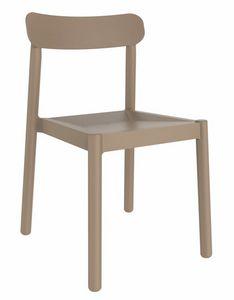 Elsa, Stuhl aus widerstandsfähigem Polypropylen