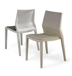 Hoth gepolstert, Unzerstörbar im Freien Stuhl, mit herausnehmbarem Kissen