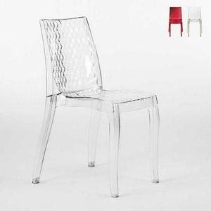 Interne transparente Design Stuhl Hypnotic - S6319, Transparenter Polycarbonat-Stuhl, für außen