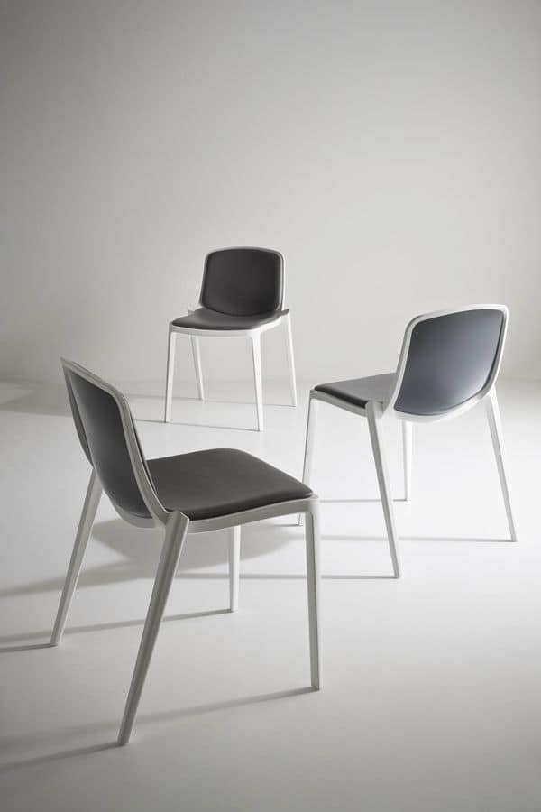 Isidora, Stackable Polymer Stuhl, perforiert zurück