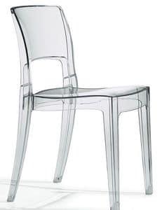 Isy Antishock, Design-Stuhl aus Polycarbonat, stapelbar, verschiedene Farben