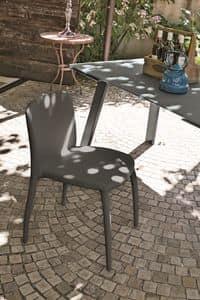 LINZ SE606, Moderne Stuhl aus Polyurethan für Bars, Soft-Touch