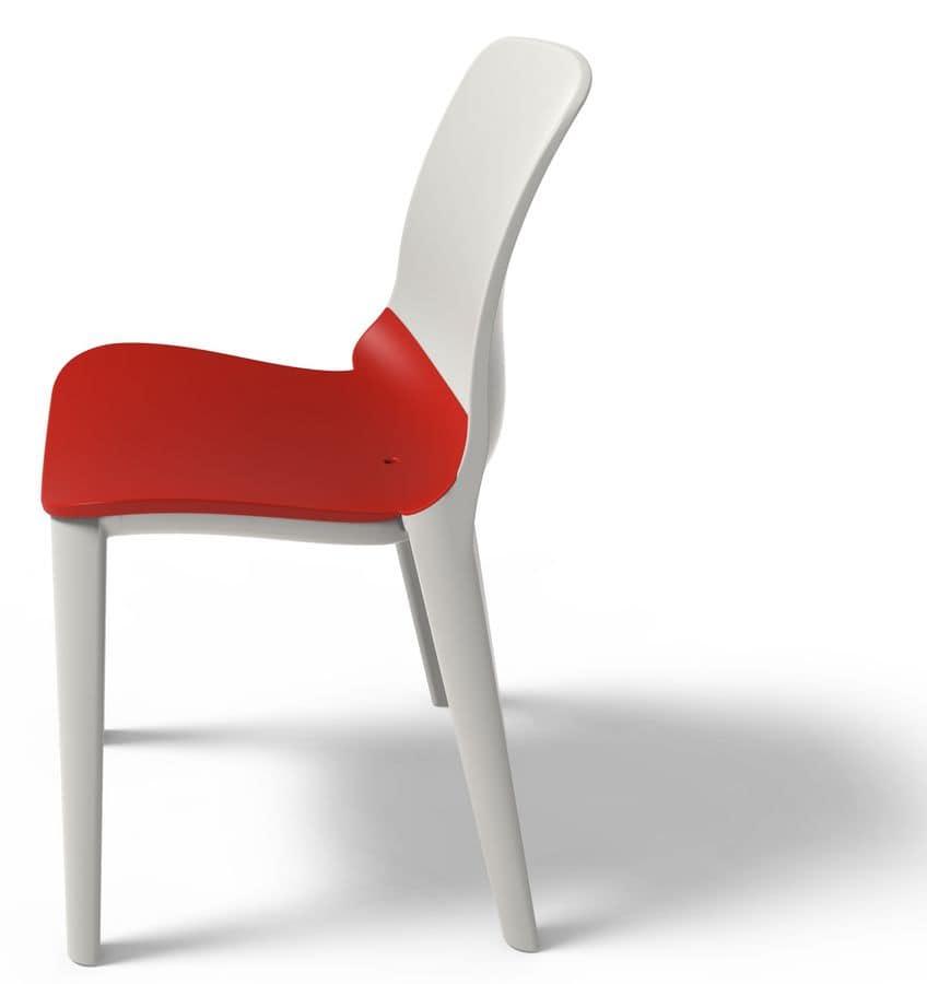 Lyssa - S, Stuhl aus Polypropylen UV-beständig, stapelbar
