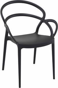 Marion, Stuhl aus Kunststoff für Bars und Restaurants