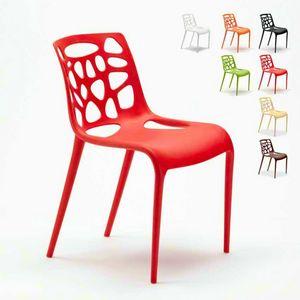 Modernes Design Anti-UV-Polypropylen Stühle GELATERIA Connubia für Küche und Bar - SG613PP, Stuhl aus Polypropylen für Bar im Freien