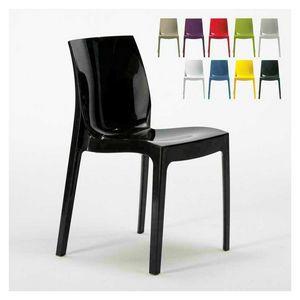 Glänzend Hause Küchenstuhl ICE - S6317, Chair in glänzendem Kunststoff, stapelbar und wirtschaftlich, in verschiedenen Farben erhältlich
