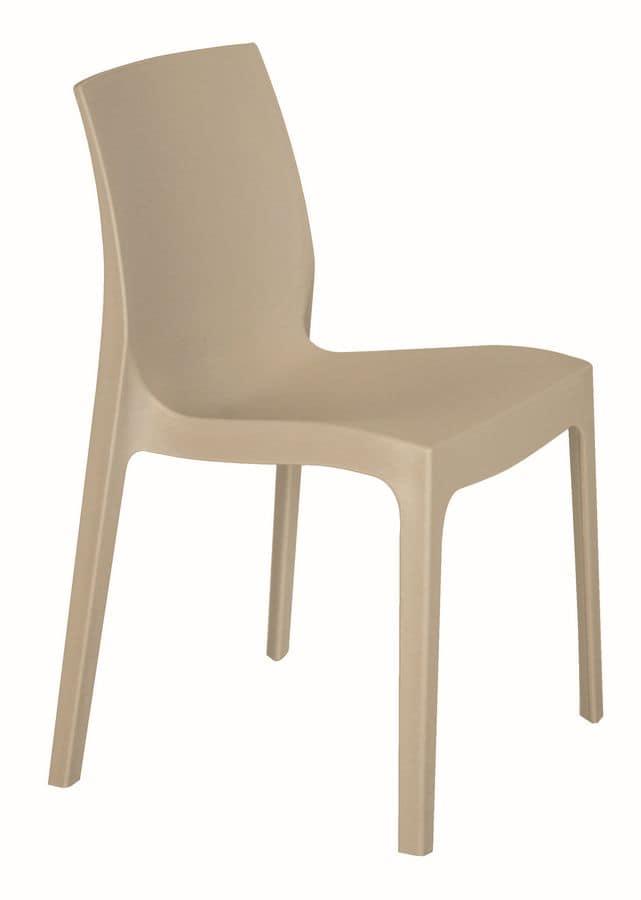 SE 6217, Stuhl aus Polypropylen für Bar und einem Außen