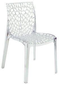 SE 6316.TR, Transparent perforierten Kunststoff-Stuhl für den Außenbereich geeignet