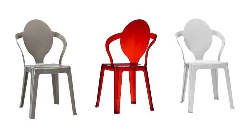 plastikstuhl mit ovalem r ckenlehne stapelbar idfdesign. Black Bedroom Furniture Sets. Home Design Ideas
