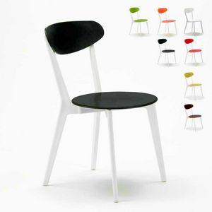 Stuhl Küche Bar Restaurant Trattoria KÜCHE paesana Design - SC659PP4PZ, Stapelbarer Vintage Stuhl