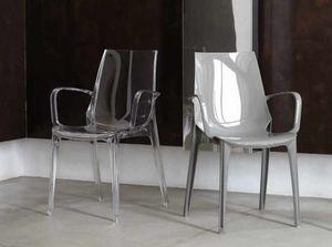 Valery-P, Kunststoffstuhl mit Armlehnen, für den Außen- und Innenbereich