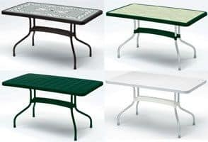 Ribalto Top table 140x80, Gartentisch mit Kippsystem