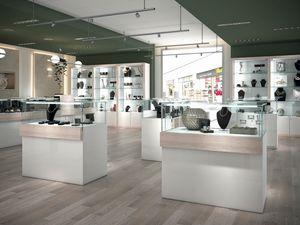 COM/QF16, Vitrinen mit Schloss für Juweliere und Geschäfte