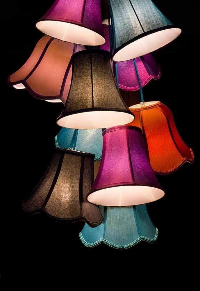 stoff lampenschirme f r h ngende lampen idfdesign. Black Bedroom Furniture Sets. Home Design Ideas
