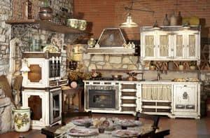 Art. 577, Modulare Küche mit Geräten, Stahl platte