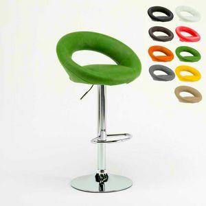 Design Küche hohen Hocker Chicago – SGA054CHI, Stabiler Hocker im modernen Stil mit ergonomischem Sitz