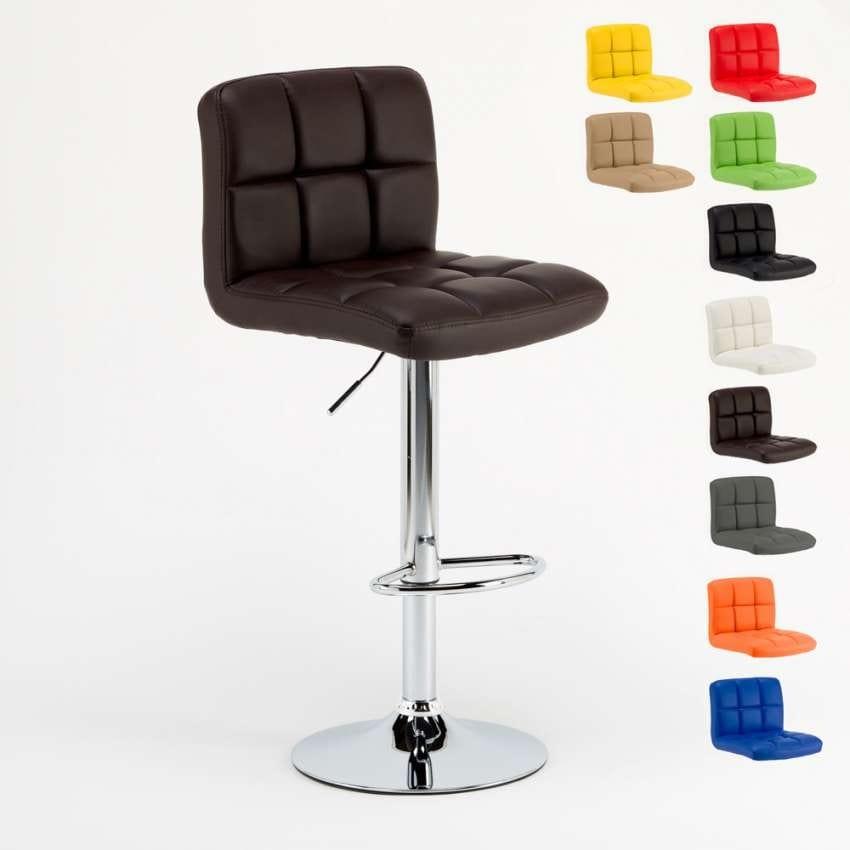 Gepolsterter verstellbarer Hocker mit ergonomischem Sitz ...