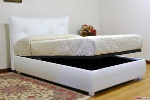 Duty, Design-Doppelbett mit einem sehr gepolsterten modernen Kopfteil