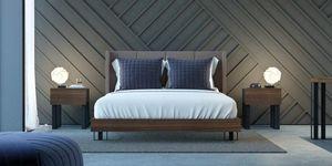 Ironwood Pad Bett, Elegantes Bett mit Nabuk Polsterkopfteil