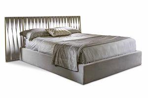 Twist Bett, Bett mit Lederkopfteil