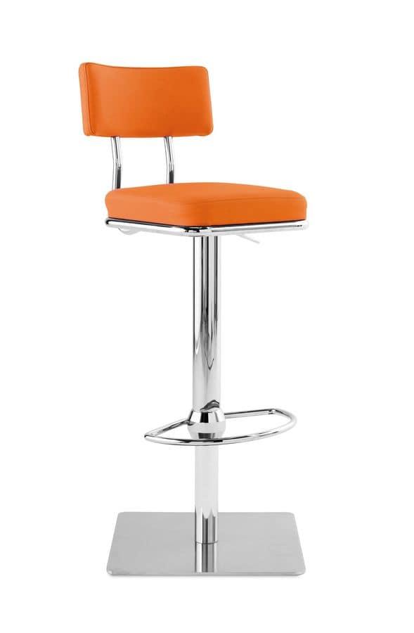 Sitze hocker modern metall und leder idfdesign for Barhocker mit ledersitz
