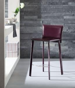 Infinity Barhocker, Hocker mit Leder überzogen, in verschiedenen Farben erhältlich, zum Hotel und Küche