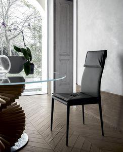 ADRIA, Stuhl gepolstert, auch total, in Leder