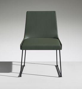 FLEET 1, Gepolsterter Stuhl mit Kufengestell