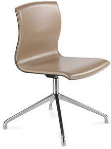 WEBTOP 398, Moderner Stuhl mit Chromgestell