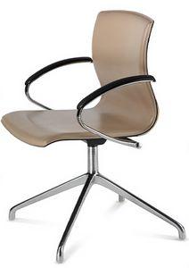 WEBTOP 399, Moderner Stuhl mit Armlehnen