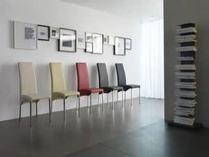Masai, Elegante Stuhl mit Lederpolsterung, in vielen Farben erhältlich