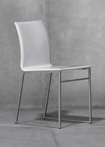 MELISSA A15, Metallstuhl mit Sitz aus recyceltem Leder