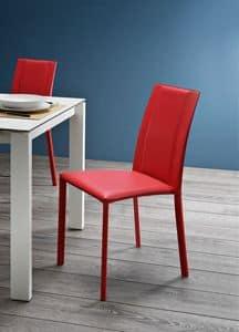 Silvy SBR CU, Stuhl komplett mit Leder bezogen