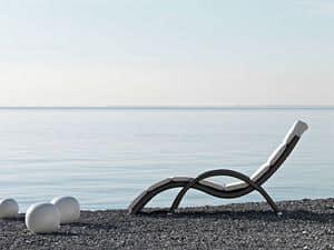 Altea Sonnenliege, Gewebte Sonnenliege, elegant, für Strand- und Freibäder